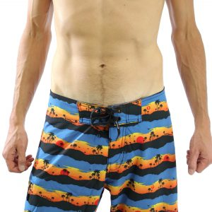 Liam Boardshort – Sunset Palm  (4 ways stretch)
