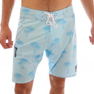 Liam Boardshort – Palm Blue  (4 ways stretch)