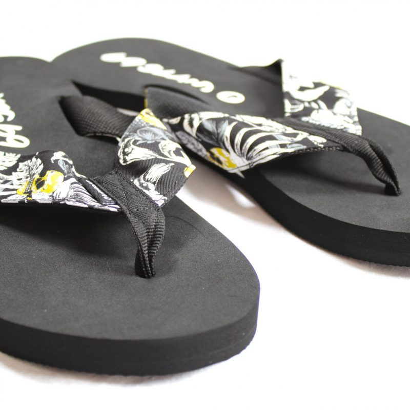 Flip-Flops – Wild Garden (black base)