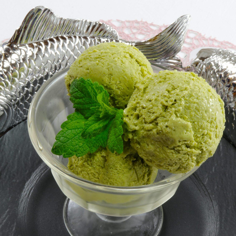 Vegan green tea ice cream